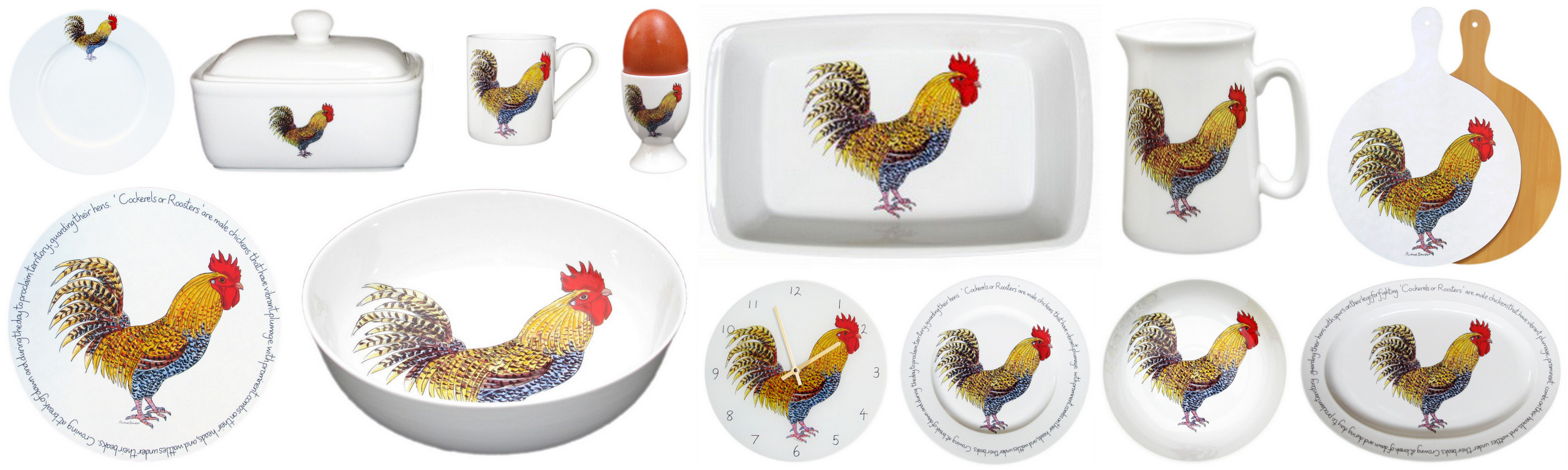 Richard Bramble Rooster and Cockerel