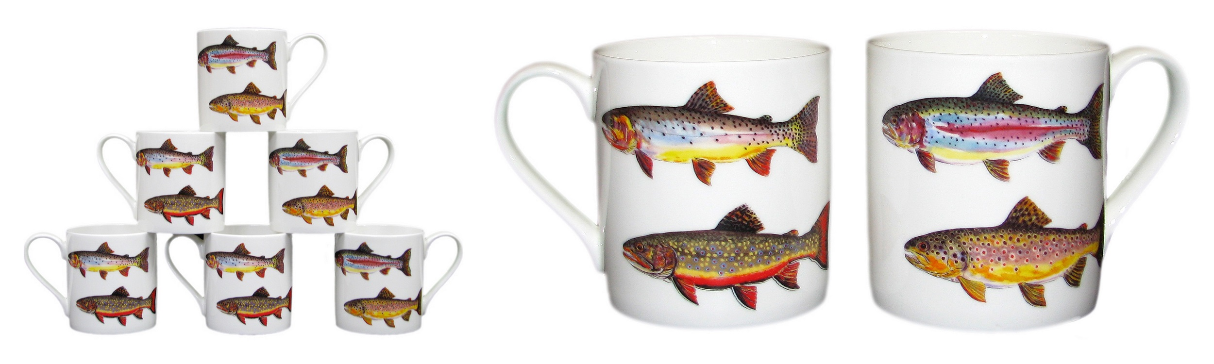 Trout Mug supporting Salmon & Trout Conservation UK