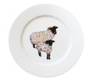 Richard Bramble Blackface Sheep 19cm Flat Rimmed Plate