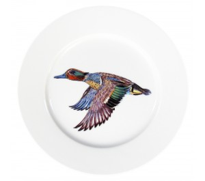 Green-winged Teal 19cm Flat Rimmed Plate