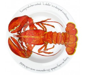 Richard Bramble Red Lobster 30cm Deep Rimmed Bowl