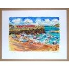 Richard Bramble limited edition print Rozel Harbour Jersey