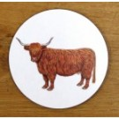 Richard Bramble Highland Cow Coaster