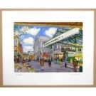 Richard Bramble Borough Market Limited edition print -Towards Ginger Pig from Stoney Street, Borough Market, large size