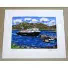 Richard Bramble Artist Print Lochmaddy Cal Mac Ferry, North Uist