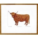 Highland Cow Print (facing left)