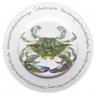 Jersey pottery Blue Crab 30cm Plate by Richard Bramble