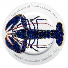 Richard Bramble Blue Lobster 30cm Flat Rimmed Plate