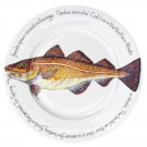 Cod 30cm Flat Rimmed Plate by Richard Bramble