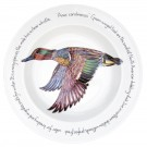 Richard Bramble Green-winged Teal 30cm Deep Rimmed Bowl