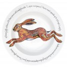 Richard Bramble Leaping Hare 30cm Deep Rimmed Bowl