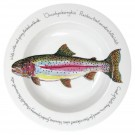 Rainbow Trout 30cm Deep Rimmed Bowl by Richard Bramble