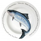 Leaping Salmon 30cm Deep Rimmed Bowl by Richard Bramble