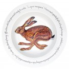 Richard Bramble Running Hare 30cm Deep Rimmed Bowl