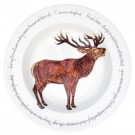 Richard Bramble Stag standing 30cm Deep Rimmed Bowl