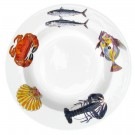 Richard Bramble Fish & Shellfish 30cm Deep Rimmed Plate