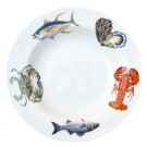 Richard Bramble Fish & Shellfish US East Coast 30cm Deep Rimmed Plate