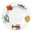 Richard Bramble Fish & Shellfish US South Coast 30cm Deep Rimmed Plate