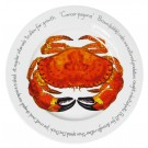 Jersey Pottery Crab 30cm Flat Rimmed Plate (end of line)