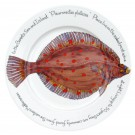 Richard Bramble Plaice 30cm Flat Rimmed Plate