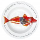 Richard Bramble Gurnard 30cm Deep Rimmed Porcelain Bowl