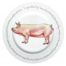 Large White Pig 30cm Plate by Richard Bramble