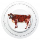 Longhorn Cow 30cm Plate by Richard Bramble