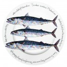 Richard Bramble Mackerel 30cm Flat Rimmed Plate