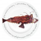 Monkfish 30cm Flat Rimmed Plate by Richard Bramble