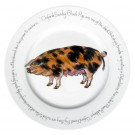 Oxford Sandy Black Pig 30cm Plate by Richard Bramble