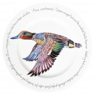 Green-winged Teal 30cm Flat Rimmed Plate