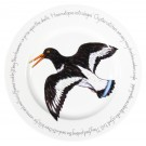 Oystercatcher Flying 30cm Flat Rimmed Plate by Richard Bramble