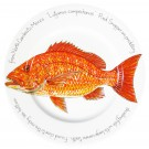 Red Snapper 30cm Flat Rimmed Plate