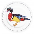 Wood Duck 30cm Flat Rimmed Plate by Richard Bramble