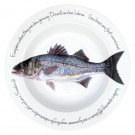 Richard Bramble Sea Bass 30cm Deep Rimmed Bowl