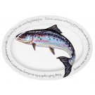 "Richard Bramble Salmon 39cm (15.4"") Oval Plate"