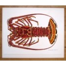 Spiny Lobster Painting Plate Original
