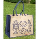 Fish & Shellfish Jute shopping & Beach Bag by Richard Bramble