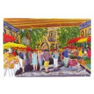 Richard Bramble Borough Market, Green market under rail bridge Greeting Card
