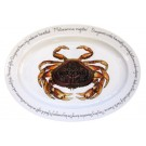 Dungeness Crab Oval designed by Richard Bramble made by Jersey Pottery