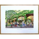 Borough Market - towards Furness Fish Stand Print