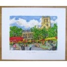 Richard Bramble Southwark Cathedral and Borough Market Print, large size
