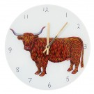 Richard Bramble Highland Cow Clock