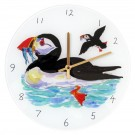 Puffin Swimming Clock by Richard Bramble
