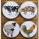 Richard Bramble Farmyard Gift Coaster Pack
