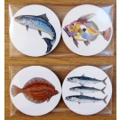 Richard Bramble Sea Fish Gift Coaster Pack