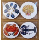 Richard Bramble Shellfish Gift Coaster Pack