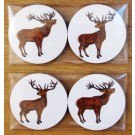 Richard Bramble Stags Gift Coaster Pack