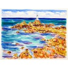 Corbiere Lighthouse, Jersey, Original Painting by Richard Bramble