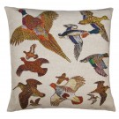 Richard Bramble Gamebirds Linen Cushion limited edition